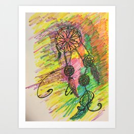 funky dream catcher Art Print