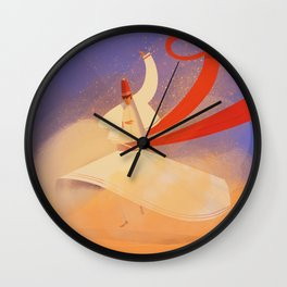Whirling dervish Wall Clock