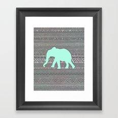 Mint Elephant  Framed Art Print