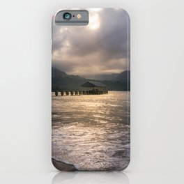 Hanalei Pier Bay Kauai Hawaii Printable Wall Art | Tropical Island Landscape Travel Photography Print iPhone Case