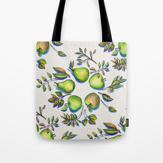 Summer's End - apples and pears Tote Bag
