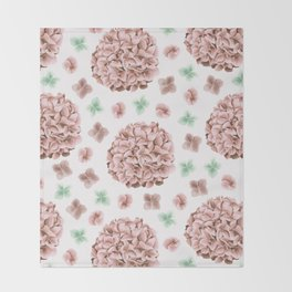 Rosette Bouquet Throw Blanket
