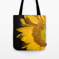 sunflower Tote Bags featuring sunflower by mark ashkenazi