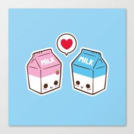 Milks in love Canvas Print