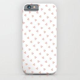 Orange Coral seamless geometric pattern triangles iPhone Case