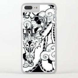 Korean Dragon Clear iPhone Case