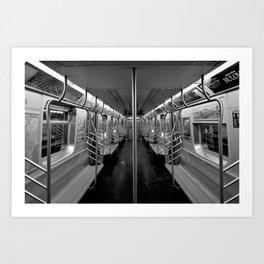 C Train last stop Art Print