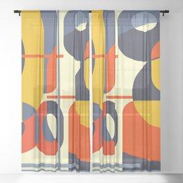 Retro Modern 01-26 Sheer Curtain