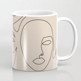 Faces In Beige Coffee Mug