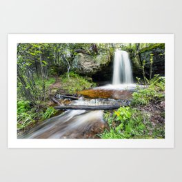 Scott Falls in Spring - Au Train Michigan Art Print
