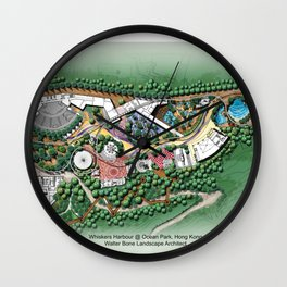 Whiskers Harbour @ Ocean Park Theme Park, Hong Kong Wall Clock