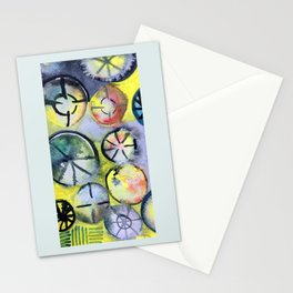 Themes on a bike wheel Stationery Cards