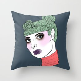 Carrie's Got The Blues Throw Pillow