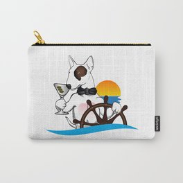 Elegant Bull terrier with helm Carry-All Pouch