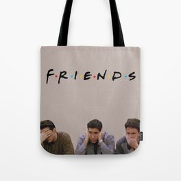 The One with Joey, Ross and Chandler face's. Tote Bag