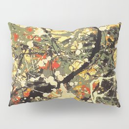 Jackson Pollock, digitally vectorised and filtered, fine art decor and clothing Pillow Sham
