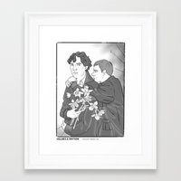 the smiths Framed Art Prints featuring Sherlock as The Smiths by Stitchy