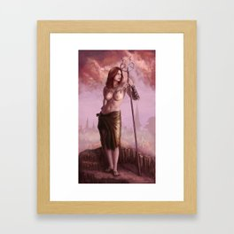 Man-Catchr Framed Art Print