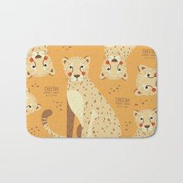 Cheetah, African Wildlife Bath Mat