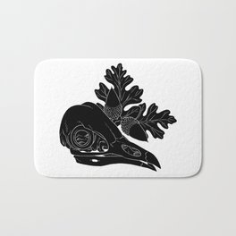 Barn Owl Skull with Valley Oak Leaves Bath Mat