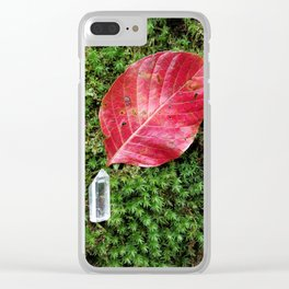 Fire crystal Clear iPhone Case