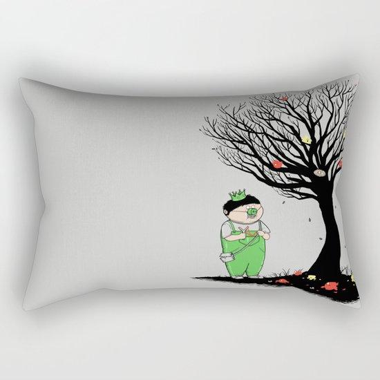 The Egg Collector Rectangular Pillow