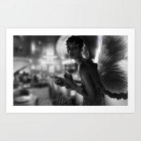 Angel In A Bar Art Print
