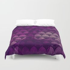 Variations on a Feather II - Purple Haze  Duvet Cover