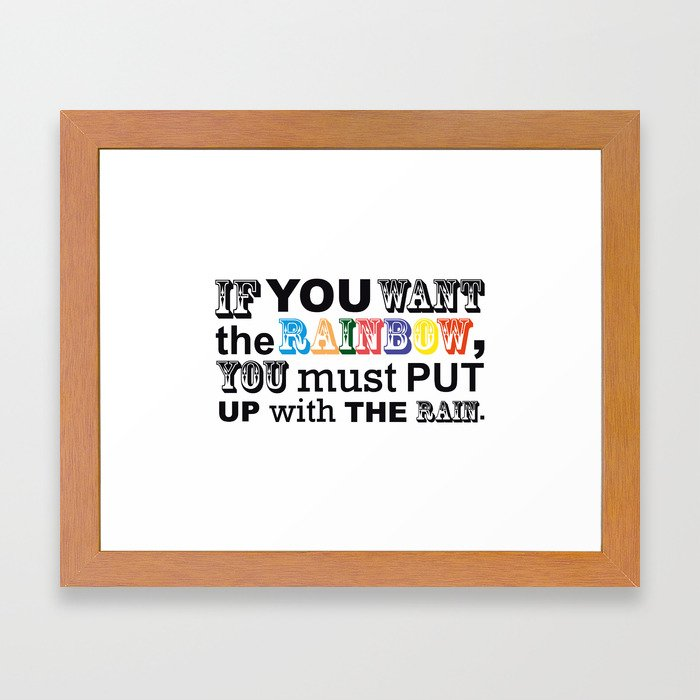 Fortune Cookie - on a rainbow Framed Art Print