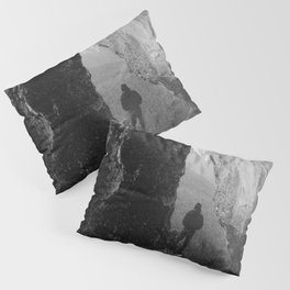 Through the Looking Glass - Black and White Photograph in taken in Oregon Pillow Sham
