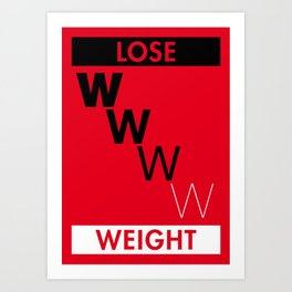 Illustrated new year wishes: #7 LOSE WEIGHT Art Print