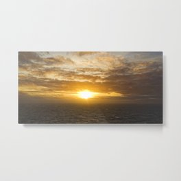 Sunset over the Irish Sea Metal Print