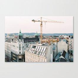 Vienna Under Construction Canvas Print