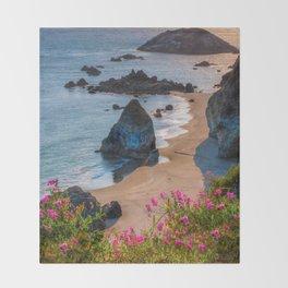 Rocky Oregon Coast Throw Blanket