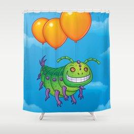 Impatient Caterpillar Shower Curtain