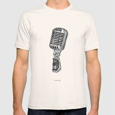 Spoken words MEDIUM Mens Fitted Tee Natural