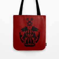 bane Tote Bags featuring Bane by WaXaVeJu