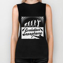 Evolution Saxophone Biker Tank