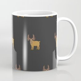 Moose Pattern Coffee Mug