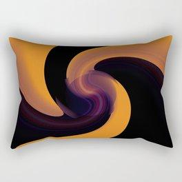 abstarct art with distorred lines Rectangular Pillow