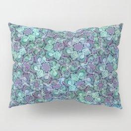 Blue Sedum Spiral Pattern Pillow Sham