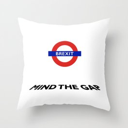 To brexit or not to brexit.... Throw Pillow