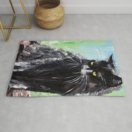 My little cat - kitty - animal - by LiliFlore Rug