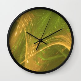 Green Yellow Asymmetric Fractal Wall Clock