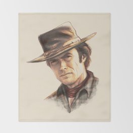 Clint Eastwood tribute Throw Blanket