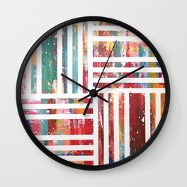 Color Pallet painting by Moe Notsu Wall Clock