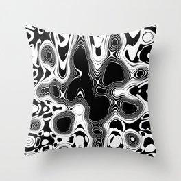 Abstract Pseudo Arteries Throw Pillow