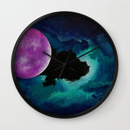 Wandering Satellite Wall Clock