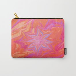 Ruby Flower Water Marbling Carry-All Pouch