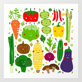 Eat your greens! Art Print